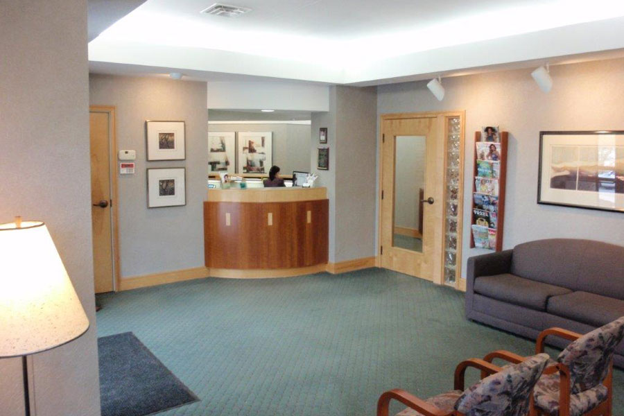 Wait and Reception area at Mahar Dental